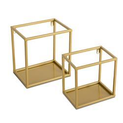 Półka wisząca ścienna metal złota 24 cm