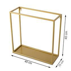 Półka wisząca ścienna metal złota 40 cm
