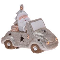 Ozdoba świąteczna Samochód led mikołaj