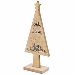 Choinka drewniana beż 25 cm wzór 6