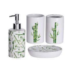 Zestaw akcesoriów łazienkowych - bambus