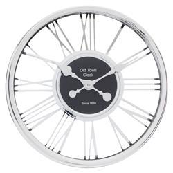 Zegar ścienny Chrome srebrny 44 cm