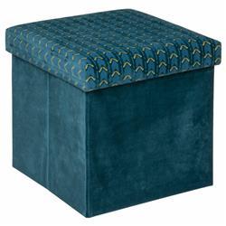 Pufa Liam Velvet Bleu Canard 38x38 cm