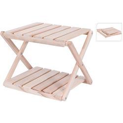 Stolik dwupoziomowy drewniany