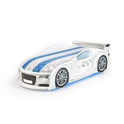 Łóżko dziecięce UNO A4 Sport White LED