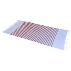 Ręcznik plażowy Hammam w paski czerwony