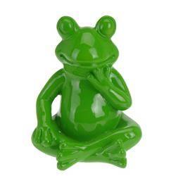 Figurka dekoracyjna Żaba zielona 20 cm