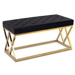 Pikowane siedzisko Timantti Gold Black