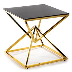 Stolik kawowy Diamanto Gold Black 60 cm