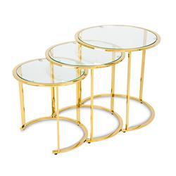 Komplet 3 stolików Vane Gold