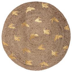 Okrągły dywan jutowy Birds 83 cm