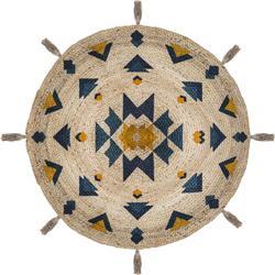 Okrągły dywan jutowy Hacienda 115 cm