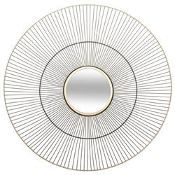 Metalowe lustro ścienne Leny 64 cm