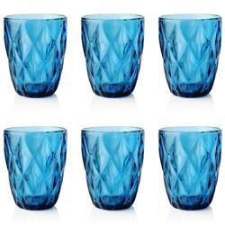 Komplet 6 niebieskich szklanek 250ml