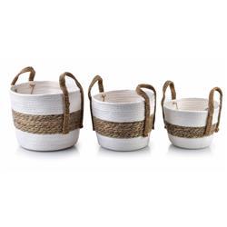 Komplet 3 koszy Bali Stripes White