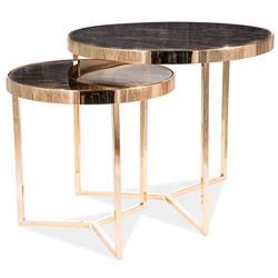 Zestaw stolików Delia II Marble Gold