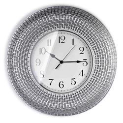 Zegar ścienny Easton Silver 58 cm
