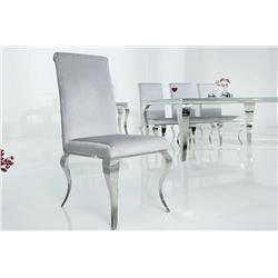 Krzesło MODERN BAROCK srebrnoszare