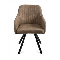 Krzesło Lucca vintage ciemny szary