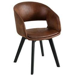 Krzesło Nordic Star Brązowe nogi czarne
