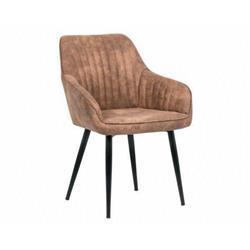 Krzesło TURIN aksamit brązowe retro loft
