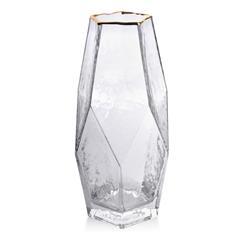 Szklany wazon Serenite Gold 28 cm