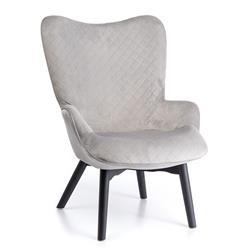 Fotel tapicerowany Romb Platinium Gray