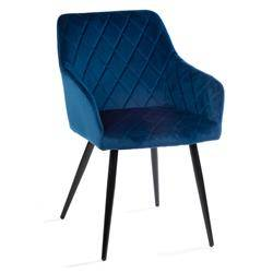 Krzesło Rico Black Dark Blue