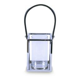 Lampion kwadratowy ze stali wys. 20 cm