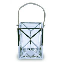 Lampion kwadratowy ze stali wys. 26 cm
