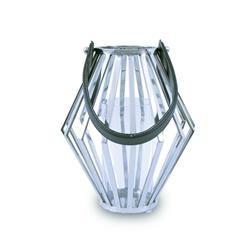 Lampion geometryczny ze stali wys. 31 cm