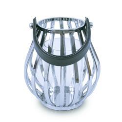 Lampion okrągły ze stali wys. 21 cm