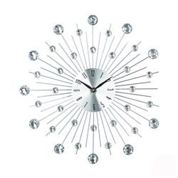 Zegar ścienny Crystals Silver 33 cm