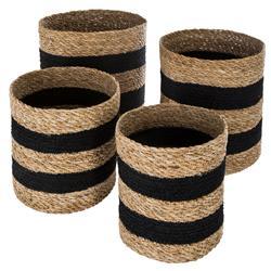 Komplet koszy jutowych Black Stripes
