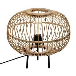 Bambusowa lampka nocna Eads 33 cm