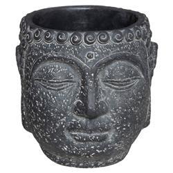Cementowa doniczka Budda antracytowa