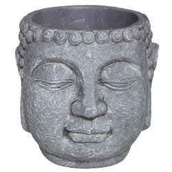 Cementowa doniczka Budda szara