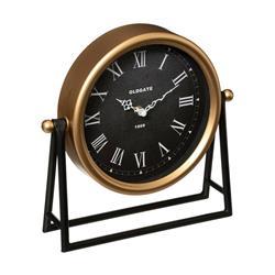 Zegar stołowy Luca na metalowym stojaku