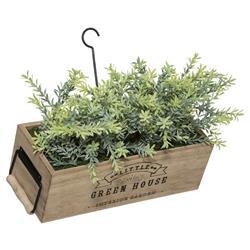 Sztuczna roślina w donicy do zawieszenia