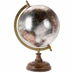 Dekoracyjny globus Retro 8 cali srebro