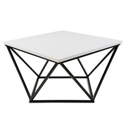 Stolik kawowy Curved 60 cm czarno biały