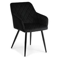 Krzesło tapicerowane Rico Black