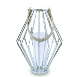 Lampion geometryczny ze stali wys. 41 cm
