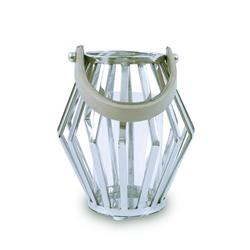 Lampion geometryczny ze stali wys. 21 cm