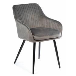 Krzesło Lenti Black Dark Gray