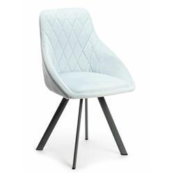 Krzesło obrotowe Roni Black Light Blue