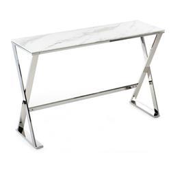 Konsola Huna Silver White 120 cm