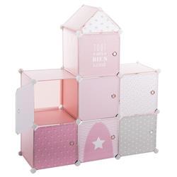 Szafka Castle do pokoju dziecka różowa