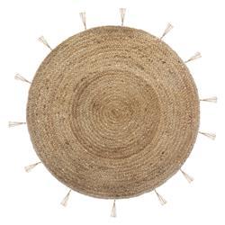 Okrągły dywan jutowy Cosy 80 cm