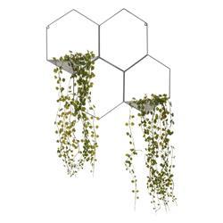 Roślina sztuczna zwisająca szary stelaż